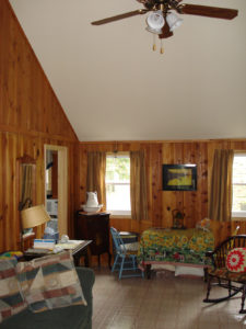 A photo of the living room.