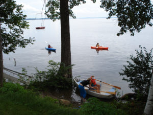 A photo of kayakers.