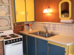 Picture of kitchen in cottage.