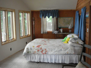 Photo of front bedroom overlooking the waterfront.